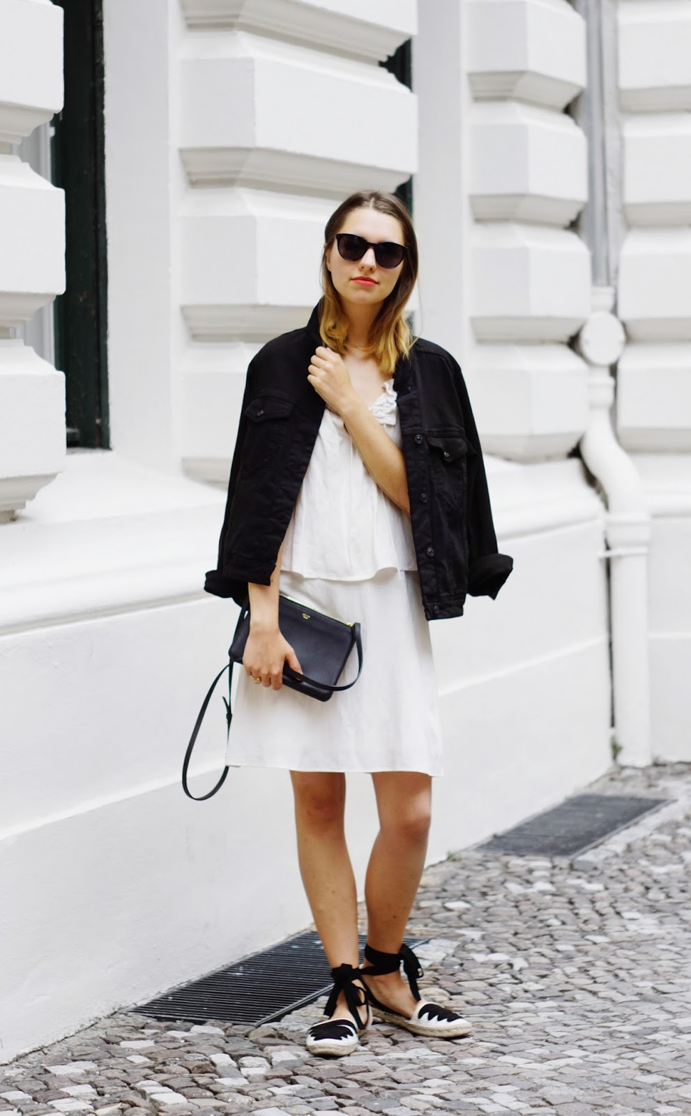 017fa23ad2012 Outfit: Linen Dress and Black Denim Jacket | CRUEL * THING | Bloglovin'
