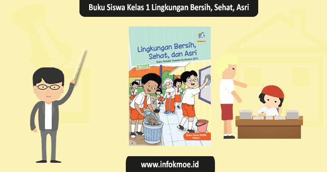 Buku Siswa Kelas 1 Tema 6 Lingkungan Bersih Sehat Dan Asri K13 Revisi 2017 Info K Moe