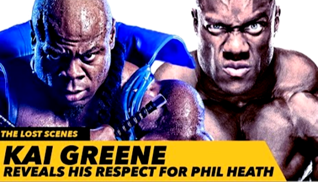 Phil Heath Heading Into The Operation Room With Kai Greene Support