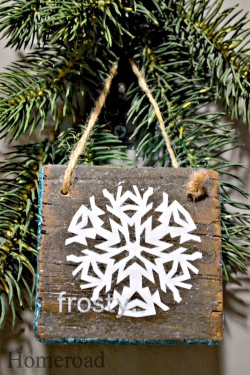 Homeroad Barn Wood & Hand Cut Snowflake Ornament http://www.homeroad.net/