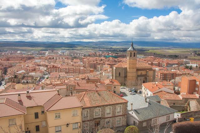 Ávila na Espanha, vista do alto da Muralha
