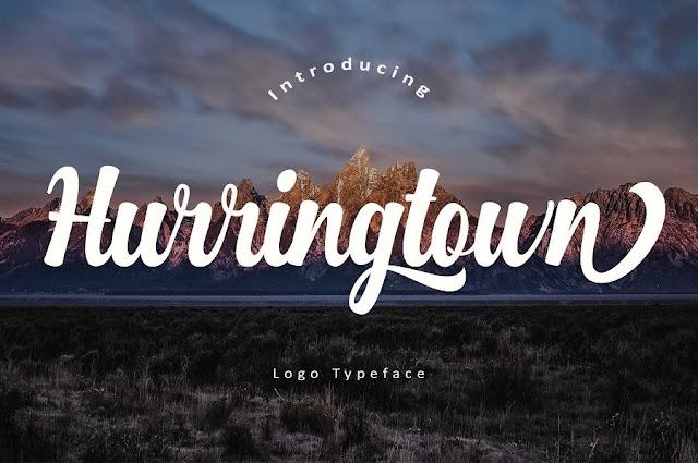 kau tidak tersesat kalau sudah membaca ini Hurringtown Script Free Demo   Download free font