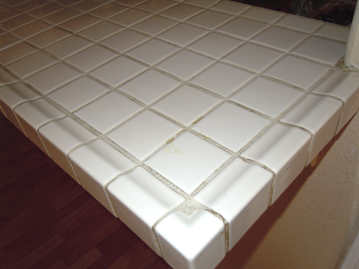 Tutorial How To Paint Old Tile Grout Naturally Creative