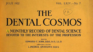 Genealogy and publications such as The Dental Cosmos