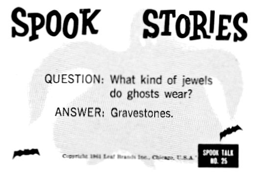 MONSTER MAGAZINE WORLD: SPOOK STORIES TRADING CARD MYSTERY