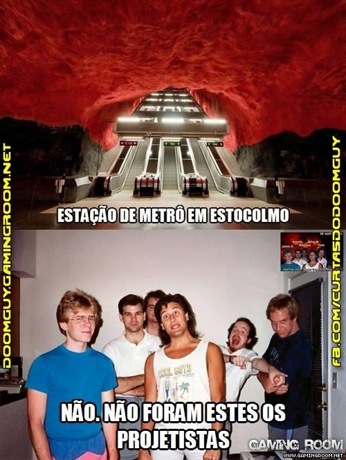 A estação de metrô que parece que saiu do Doom