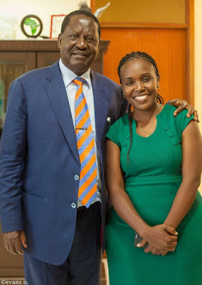 Linda Oguttu Adopts Raila Odinga As Her 'New' Father After The Demise Of Her Biological Dad!