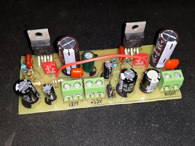 Amplificator audio stereo cu TDA2003