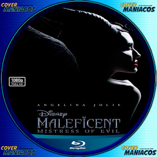 GALLETA LABELMALEFICENT MISTRESS OF EVIL- MALEFICA MAESTRA DEL MAL 2019 [COVER BLU-RAY]