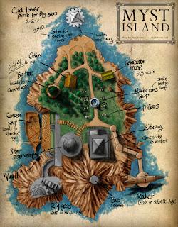 Mapa de la Isla Myst