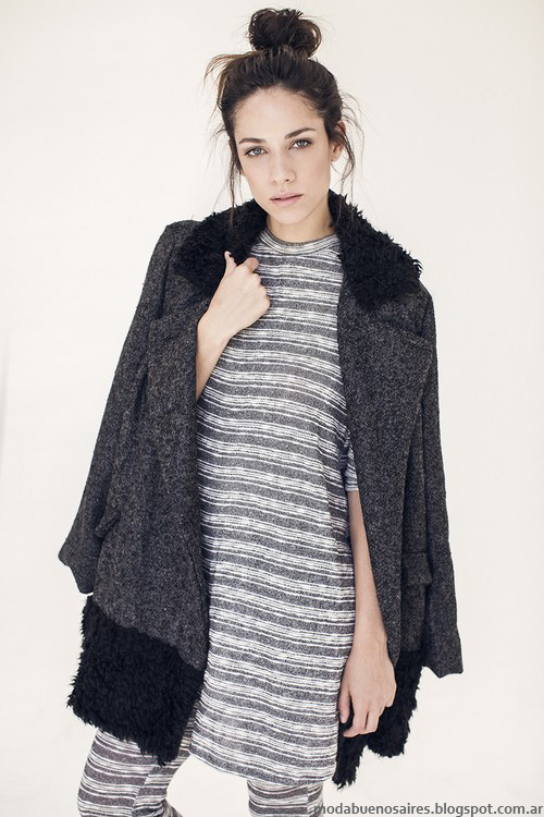 Moda invierno 2016 ropa de mujer Ossira tapados y sacos de mujer.