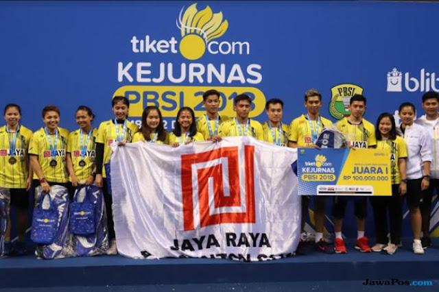 Kalahkan Mutiara Cardinal, PB Jaya Raya Juara Kejurnas 2018