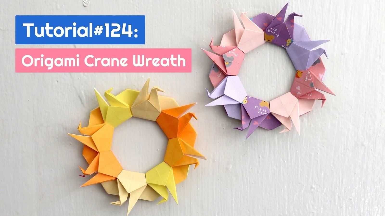 Easy Origami Crane Tutorial - Tsuru - Paper Kawaii - YouTube | 900x1600