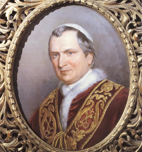 S.S. Beato Pio IX, Papa reinante durante la aparición