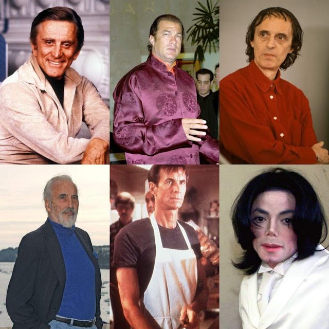 Kirk Douglas, Steven Seagal, Dario Argento, Christopher Lee, Anthony Perkins y Michael Jackson
