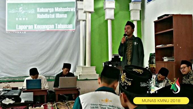 Hari Kedua Munas KMNU, Presidium Nasional Bacakan LPJ Setahun Kepengurusan