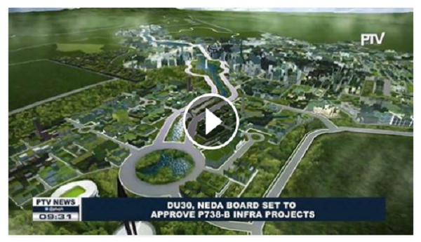 GOOD NEWS   President Duterte, NEDA board set to approve P738-B infra Projects