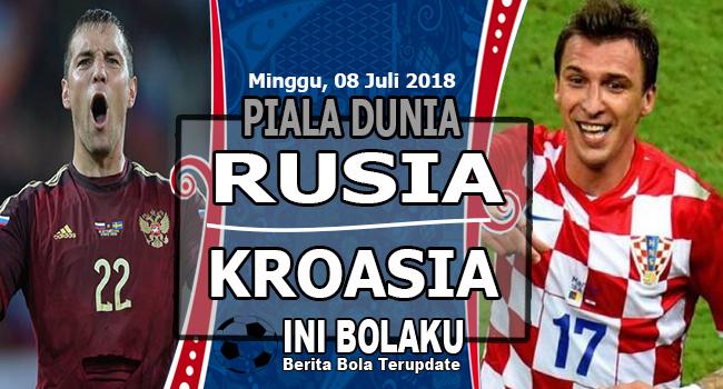 Prediksi Rusia vs Kroasia, Minggu, 08 Juli 2018 Dini Hari