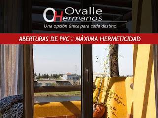 Aberturas de PVC con aislación térmica Ovalle Hermanos
