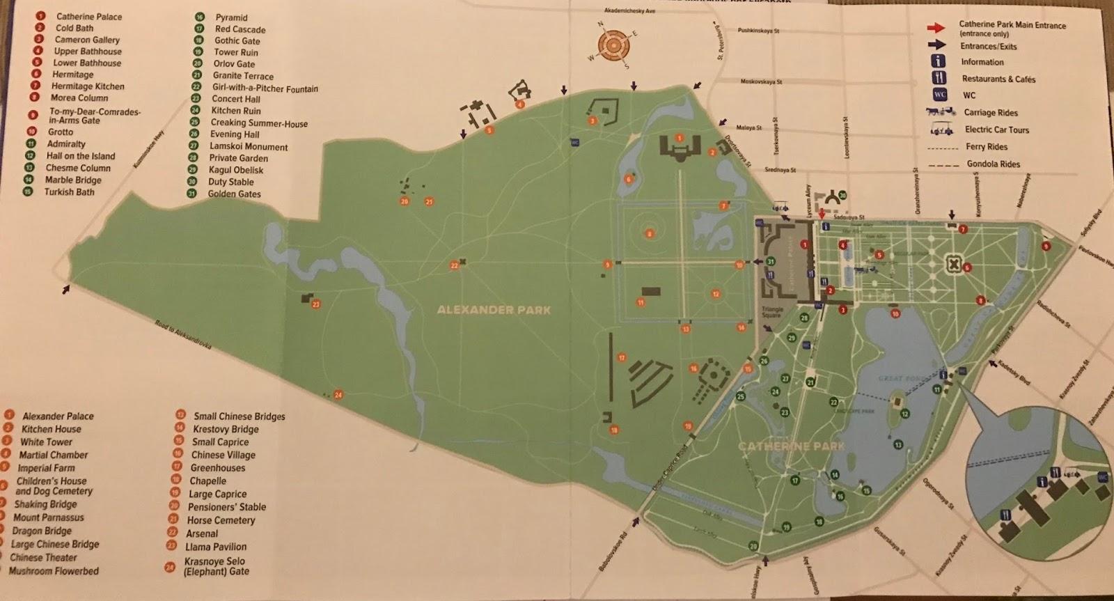 Mapa do Palácio da Catarina