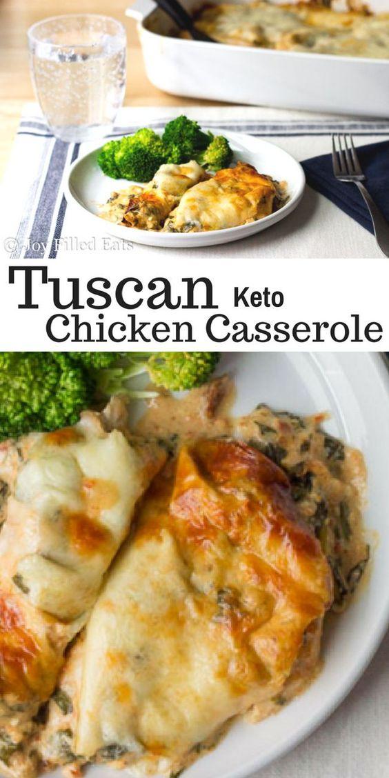 Tuscan Chicken Casserole