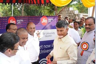 CM inaugurating jionet at SVU Tirupathi 1