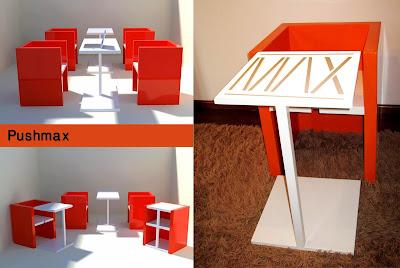 Rekaan Moden Kerusi & Meja yang Kreatif - kerusi meja rak