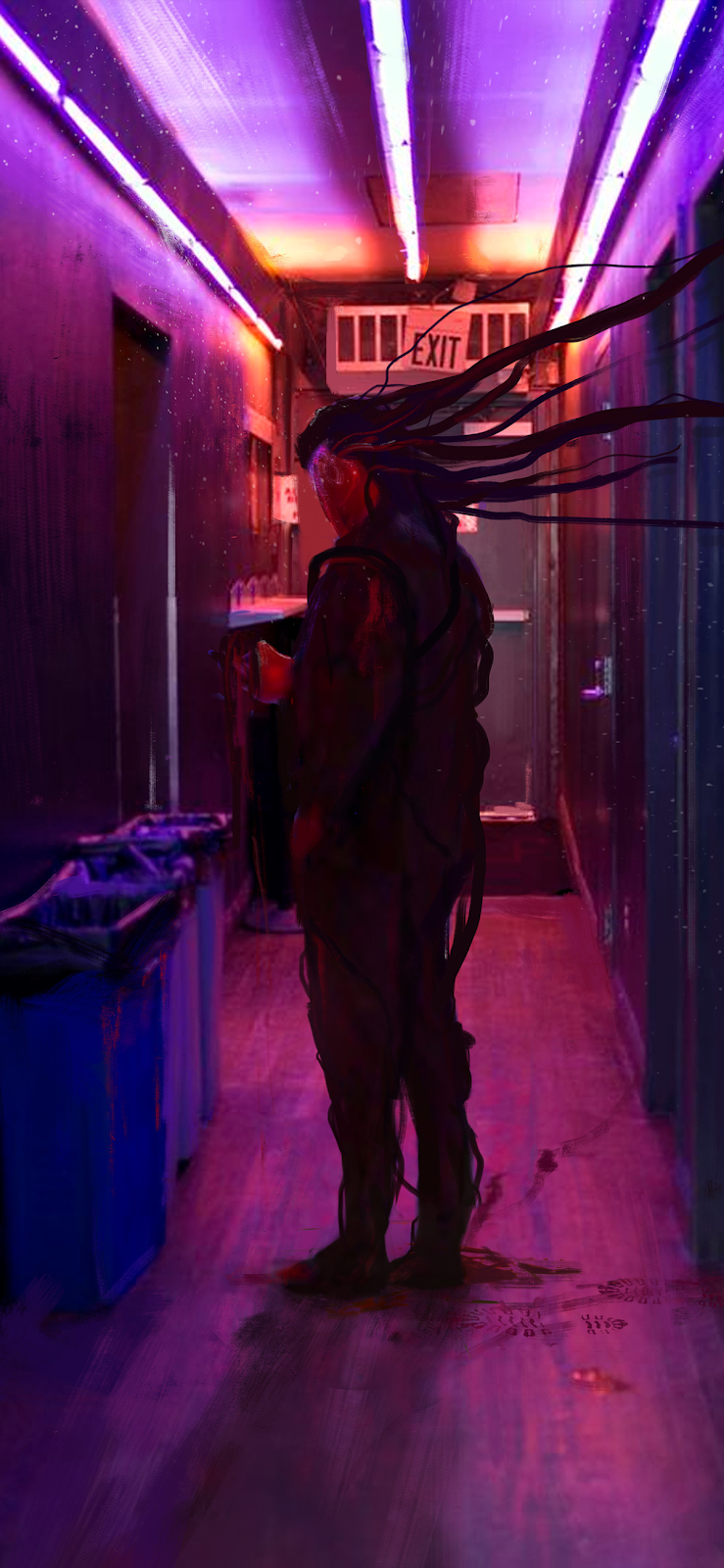 cyberpunk iphone or android wallpaper