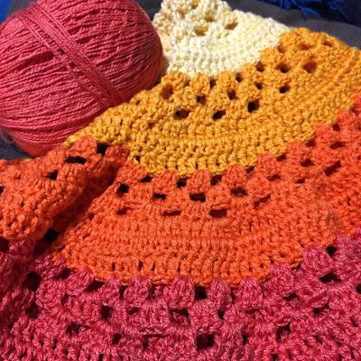 Capa de crochê feita com anne