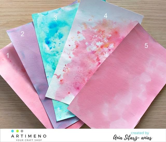 papier akwarelowy barwiaony
