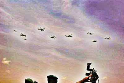 Various NAF's aircraft on aerial display