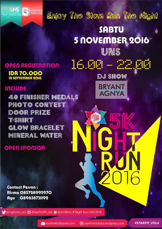 5K Night Run UNS 2016