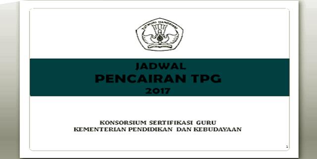 Berikut Jadwal Lengkap Pencairan TPG 2017 Triwulan I, II, III dan IV