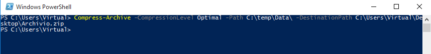 PowerShell, Compress-Archive