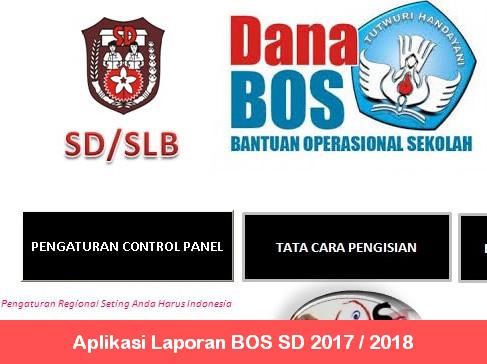 Aplikasi Laporan BOS SD 2017 2018