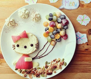 Kreasi makanan berbentuk hello kitty lucu untuk anak