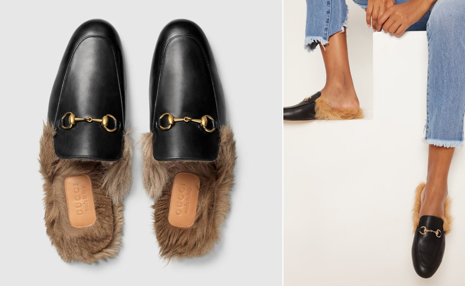 Gucci Princetown Fur Slipper Mule Dupe Pretty Little Thing