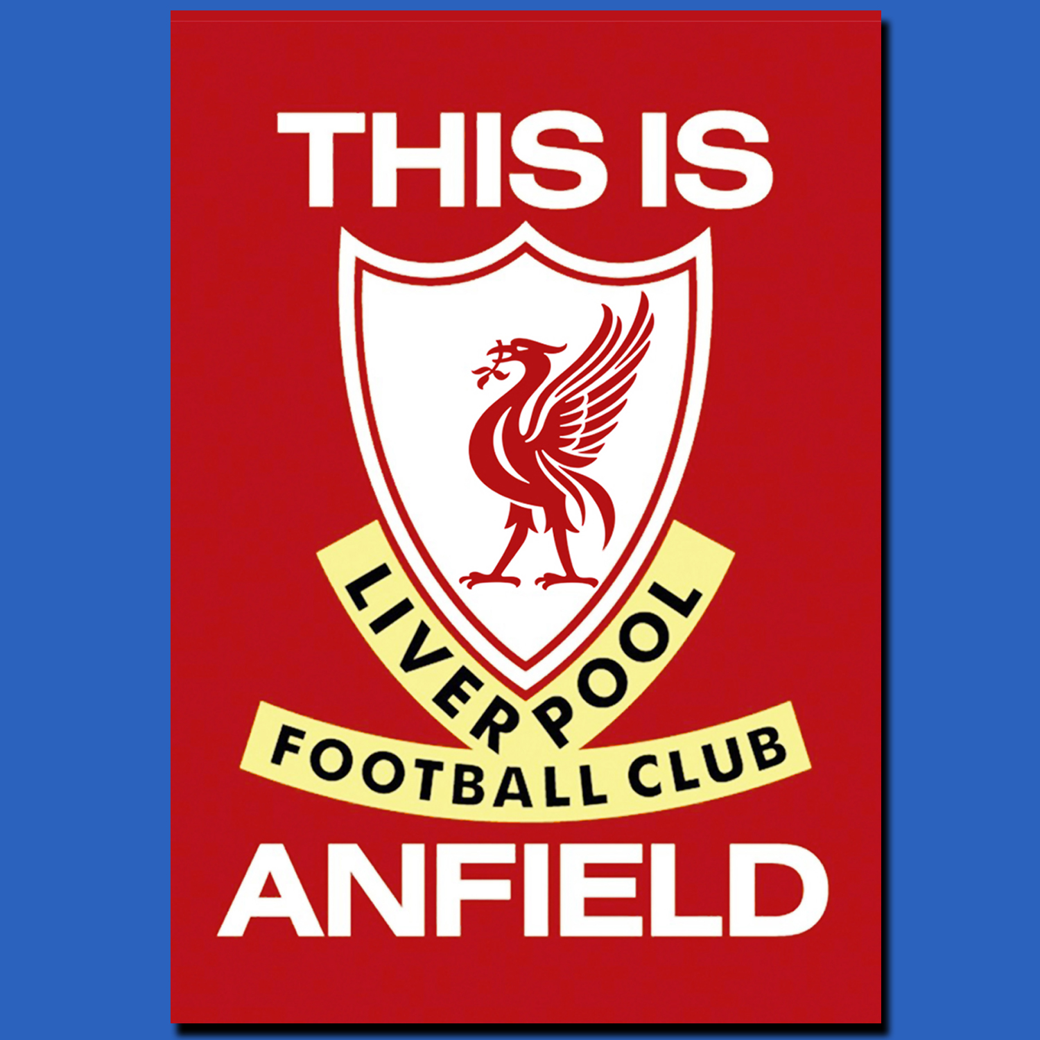 POSTER, POSTER CUSTOM THIS IS ANFIELD (FOOTBALL CLUB LIVERPOOL)