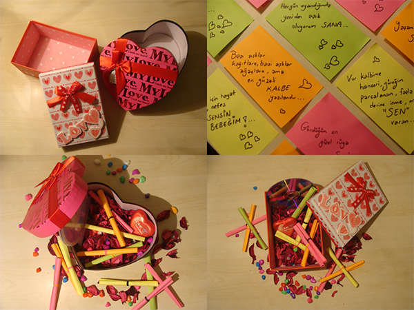 Sevgiliye Romantik Kutu Yapımı Surprizinvarcom
