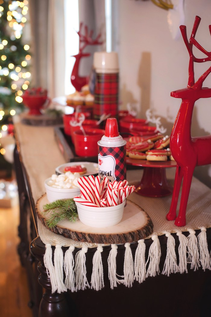 Mesa dulce en Navidad by Habitan2| Christmas sweet table | Decoración de eventos handmade de estilo nórdico