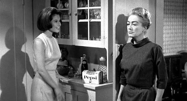 Strait Jacket, starring Joan Crawford. 1964. Joan was on the Pepsi board of directors and had Pepsi products placed in her movies. Jingles and other stories about The American Dream. marchmatron.com