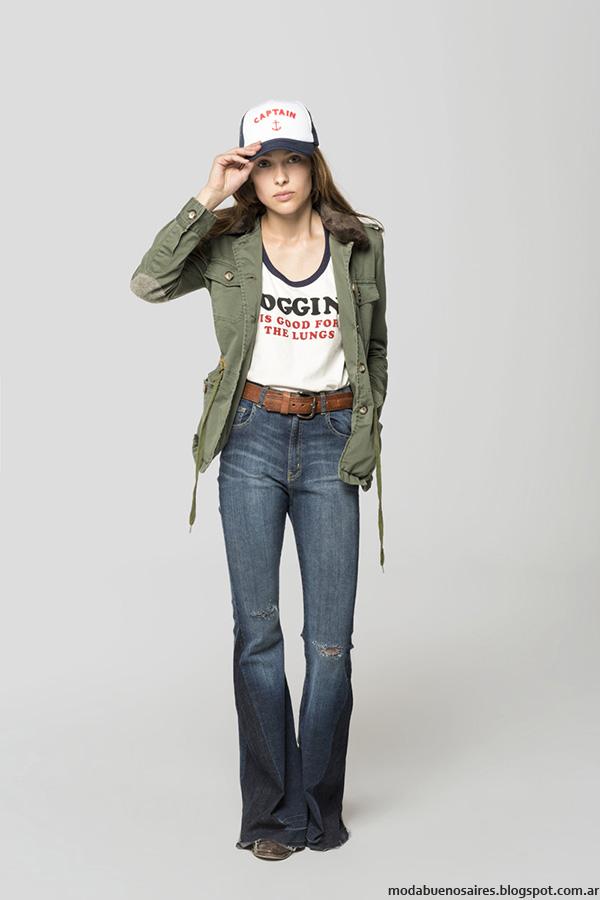 Moda invierno 2016 ropa de mujer Cook pantalones oxford,