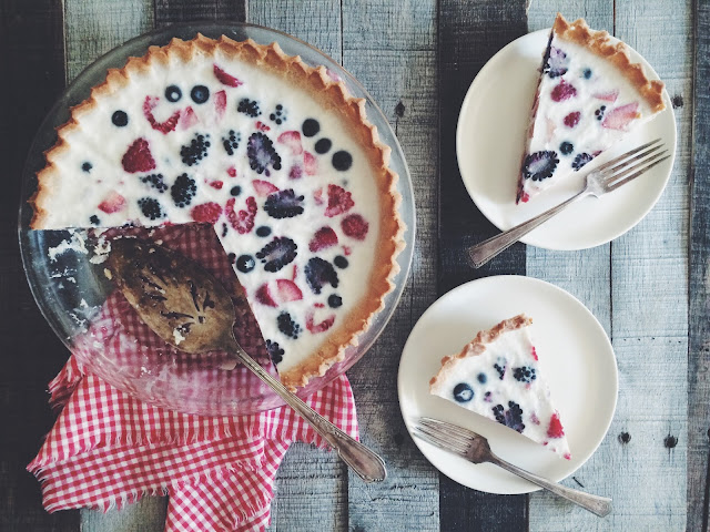 Berry Panna Cotta Pie (AIP & Paleo)