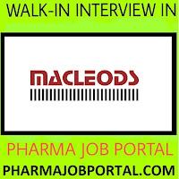 Urgent Vacancy at Macleods Pharmaceuticals Ltd