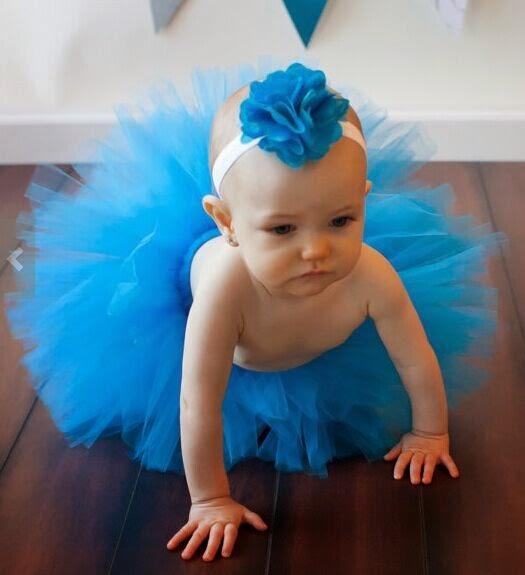 Gambar baby pakai rok tutu warna biru lucu banget