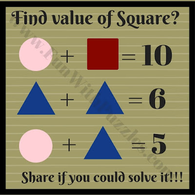 brain teaser with answers in math