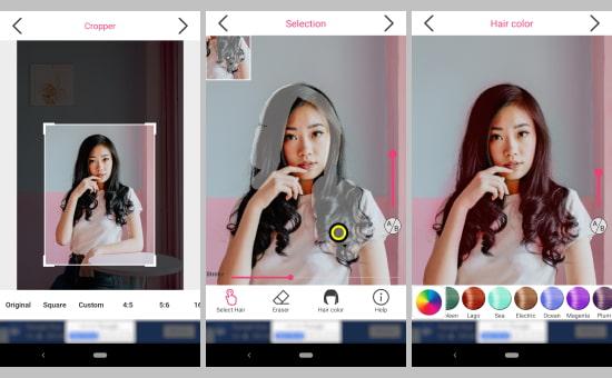5 Aplikasi Pengubah Warna Rambut Gratis Di Android Semutsujud Blog Media Teknologi