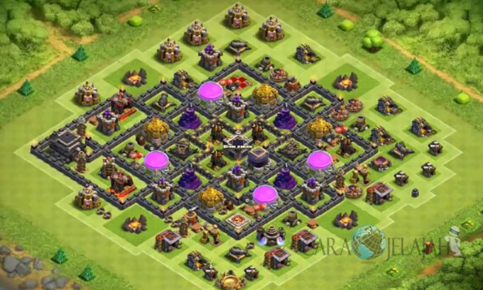 Base Farming TH 9 COC Update Bomb Tower Terbaru 2017 Tipe 16