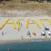 Όταν ο έpωταs δεν κρύβεται: Τεράστιο «σ' αγαπώ» με ξαπλώστρες στον Πλαταμώνα (video)