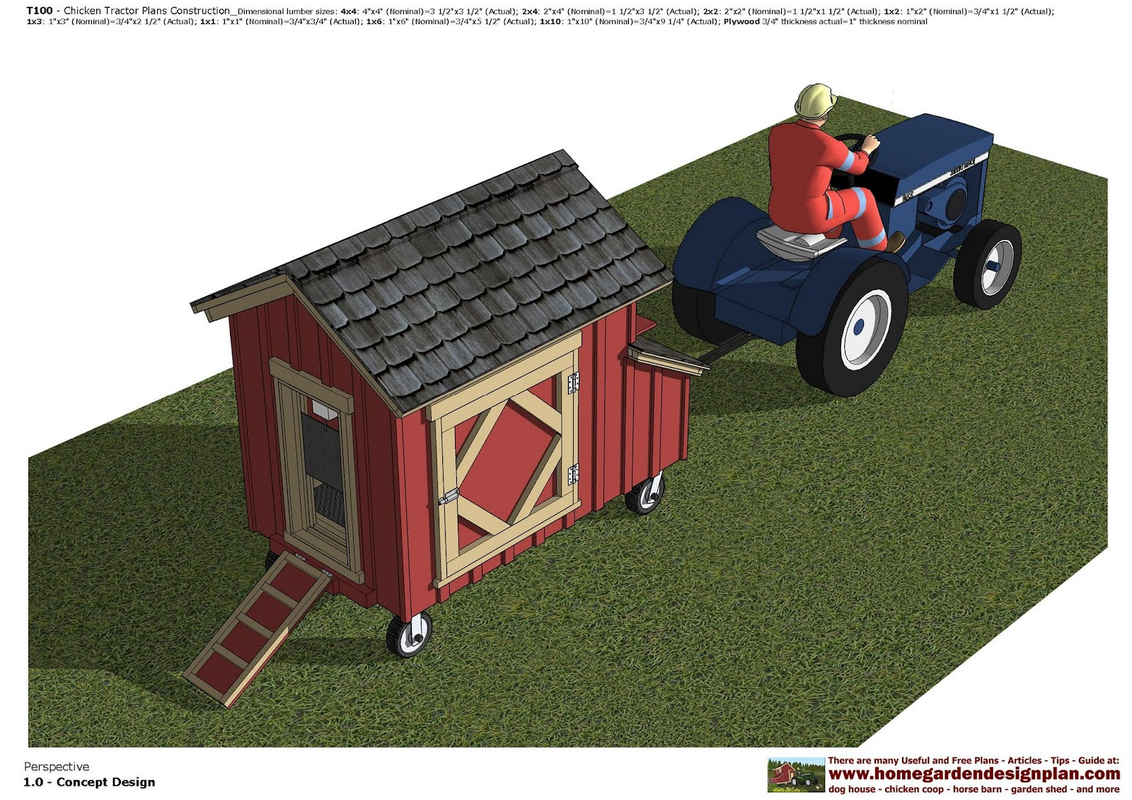 Chicken Tractor Designs : Home garden plans t chicken tractor
